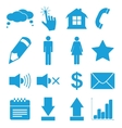 Blue flat icons set vector image vector image