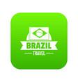 brazil flag icon green vector image vector image