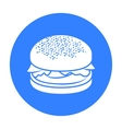 Burger icon in black style for web vector image vector image
