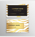 business card trendy zebra and tiger pattern wild vector image vector image
