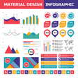 Business infographic set in material design vector image