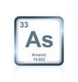 chemical element arsenic from the periodic table vector image vector image
