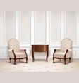 classic interior design vector image vector image