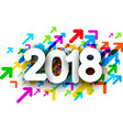 colorful 2018 new year background vector image