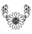 cute flower cartoon vector image