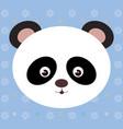 cute panda bear head tender character vector image vector image