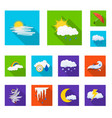 design of weather and climate logo vector image