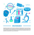 dna research medical banner template in flat style vector image vector image