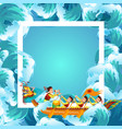 dragon boat festival colorful poster vector image vector image