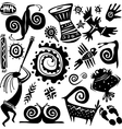elements for designing primitive art vector image vector image