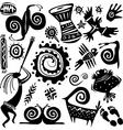 elements for designing primitive art vector image vector image