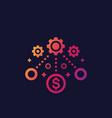 financial operations financing icon vector image vector image