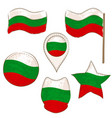 flag of bulgaria performed in defferent shapes vector image vector image