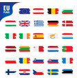 flags of the european union vector image vector image