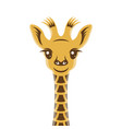 giraffee baby cartoon style portrait nursery vector image