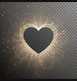 gold background with frame heart vector image