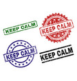 grunge textured keep calm seal stamps vector image
