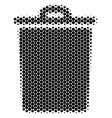 halftone dot trash bin icon vector image vector image
