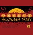 halloween invitation card design vector image vector image