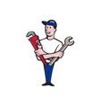 Handyman Spanner Monkey Wrench Cartoon vector image vector image