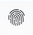 id app icon fingerprint vector image vector image
