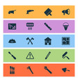 industrial icons set with chisel caution vector image vector image