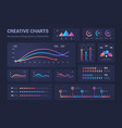 infographic graphs diagrams pie charts progress vector image