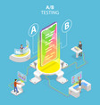 isometric flat concept ab testing split vector image vector image