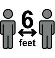 keep safe social distance sign vector image