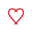 love heart icon design template isolated vector image vector image