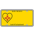 new mexico state license plateai vector image vector image