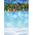 new years background with snowflakes and border vector image vector image