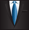 object black man suit vector image