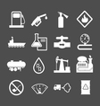 Oil industry and petroleum icons set vector image vector image