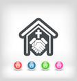 religious relationship vector image vector image