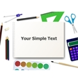 school supplies tools vector image