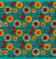seamless african wax print fabric ethnic textile vector image vector image