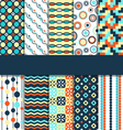 Seamless geometric bright abstract patterns vector image vector image