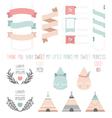 set cute ribbons labels droplet vector image vector image