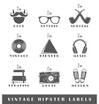 Set of vintage hipster labels vector image