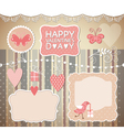 set valentines day elements vector image vector image