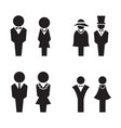 Silhouette wc restroom toilet icons set