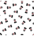 Spotted Spy Flat Seamless Pattern vector image