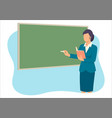 teacher teaching in front class room vector image