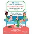 Teenage Girls Birthday Party Ilvitation vector image