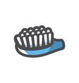 teeth blue brush icon cartoon vector image