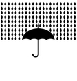 Umbrella with rain vector image vector image