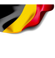 waving flag belgium close-up with shadow on vector image vector image