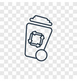 wiping trash container concept linear icon vector image