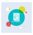 wire framing web layout development white glyph vector image vector image